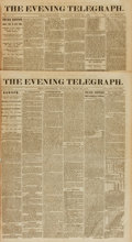 Books:Periodicals, [Newspapers, Philadelphia]. Two Early Issues of The EveningTelegraph, Vol. V, Nos. 122 and 127. May 22 - 28, 1866...