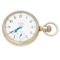 Timepieces:Pocket (post 1900), Illinois Rare 23 Jewel Interstate Chronometer. ...