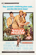 Memorabilia:Movie-Related, Valley of Mystery Theatrical Movie Poster Signed by PeterGraves (Universal, 1967)....