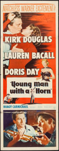 "Movie Posters:Drama, Young Man with a Horn (Warner Brothers, 1950). Autographed Insert (14"" X 36""). Drama.. ..."