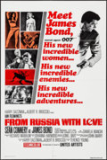 """Movie Posters:James Bond, From Russia with Love (United Artists, R-1980s). One Sheet (27"""" X 41""""). James Bond.. ..."""