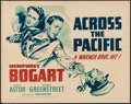 "Movie Posters:War, Across the Pacific (Warner Brothers, 1942). Half Sheet (22"" X 28"")Style B. War.. ..."