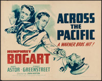 "Across the Pacific (Warner Brothers, 1942). Half Sheet (22"" X 28"") Style B. War"