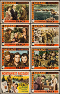 "Movie Posters:Action, Northwest Passage (MGM, 1940). Lobby Card Set of 8 (11"" X 14"").Action.. ... (Total: 8 Items)"