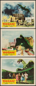 "Movie Posters:Science Fiction, Rodan! The Flying Monster (Toho/RKO, 1957). Lobby Cards (3) (11"" X14""). Science Fiction.. ... (Total: 3 Items)"