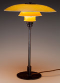 Decorative Arts, Continental:Lamps & Lighting, A Poul Henningsen Enameled Aluminum, Bronze and Bakelite TableLamp: PH 3 5/2, circa 1933. 21 inches high x 14-1...