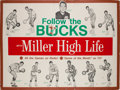 Basketball Collectibles:Others, 1970-71 Milwaukee Bucks Miller High Life Advertising Broadside - World Championship Season!...