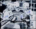 Hockey Collectibles:Photos, Brian Leetch, Mark Messier and Adam Graves Multi Signed OversizedPhotograph....