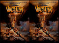 "Miscellaneous Collectibles:General, Chevy Chase ""National Lampoon's Vacation"" Signed Oversized PrintsLot of 2...."