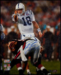 Football Collectibles:Photos, Peyton Manning Signed Oversized Photograph....