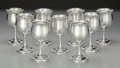 Silver Holloware, American:Cups, Nine Reed & Barton Silver Cordial Stems, Taunton,Massachusetts, circa 1955. Marks: REED & BARTON, STERLING,H122, (cand... (Total: 9 Items)