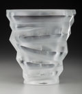 Art Glass:Lalique, A Lalique Dixie Clear and Frosted Glass Vase, post 1945.Marks: Lalique, France. 8-1/2 inches high (21.6 cm)...