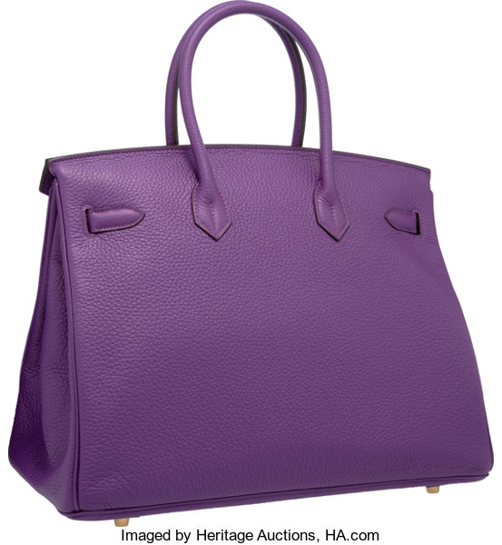 cbe1831875 Hermes 35cm Ultraviolet Clemence Leather Birkin Bag with