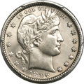 Barber Quarters, 1896-O 25C MS64 PCGS....