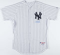 Baseball Collectibles:Uniforms, Derek Jeter Signed New York Yankees Jersey....