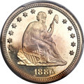 Proof Seated Quarters, 1886 25C PR66 Cameo PCGS....