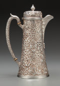 Silver Holloware, American:Coffee Pots, A Baltimore Sterling Silver Co. Silver Floral Repoussé Coffee Pot,Baltimore, Maryland, circa 1900. Marks: (crown-B), 925...