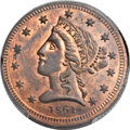 Territorial Gold , 1861 $5 Clark, Gruber $5 Copper Die Trial MS64 Red and Brown PCGS. K-6, Reeded Edge, R.7....