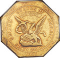 Territorial Gold , 1851 $50 RE Humbert Fifty Dollar, Reeded Edge, 887 Thous. XF40 PCGS. CAC. K-6, R.4....