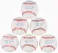 Autographs:Bats, Mark Teixeira Single Signed Baseballs Lot of 6....