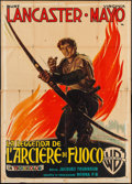 "Movie Posters:Adventure, The Flame and the Arrow (Warner Brothers, 1951). Italian 4 - Foglio(55"" X 77""). Adventure.. ..."