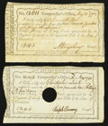 Colonial Notes:Connecticut, Connecticut Interest Certificates Handwritten DenominationsAnderson CT-49. . ... (Total: 2 notes)