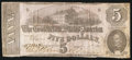 Confederate Notes:1862 Issues, T53 $5 1862 PF-3 Cr. 383.. ...
