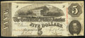 Confederate Notes:1863 Issues, T60 $5 1863 PF-27 Cr. 464.. ...