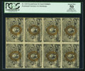 Fractional Currency:Second Issue, Fr. 1232 5¢ Second Issue Block of Eight PCGS Apparent About New 50.. ...