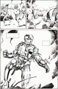 Original Comic Art:Panel Pages, Barry Windsor-Smith and Bob Layton X-O Manowar #1 Page 24Original Art (Valiant, 1992)....