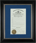 Baseball Collectibles:Others, 2008 State of Oklahoma Bobby Murcer Day Proclamation from The BobbyMurcer Collection....