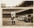 "Baseball Collectibles:Photos, 1948 ""The Babe Bows Out"" Pulitzer-Prize Winning OriginalPhotograph...."