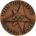 Olympic Collectibles:Autographs, 1960 Bill Christian Squaw Valley Winter Olympics ParticipationMedal. ...