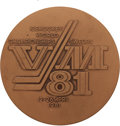 Hockey Collectibles:Others, 1981 World Ice Hockey Championships Participation Medal Presented to Dave Christian....
