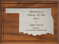 Baseball Collectibles:Others, 1971 Oklahoma Athlete of the Year Plaque Presented to BobbyMurcer....