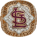 Baseball Collectibles:Others, 2006 St. Louis Cardinals World Series Championship Ring....