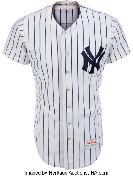 a808f93d ... Baseball Collectibles:Uniforms, 1990 Bobby Murcer Game Worn New York  Yankees Old-Timers ...