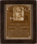 "Baseball Collectibles:Others, 1979 Lewis ""Hack"" Wilson Personal Baseball Hall of Fame Plaque...."