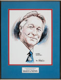 Baseball Collectibles:Others, 2000's Bobby Murcer Bill Gallo Original Artwork from The BobbyMurcer Collection. ...