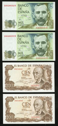 World Currency: , Spain 1937-79.. ... (Total: 15 notes)