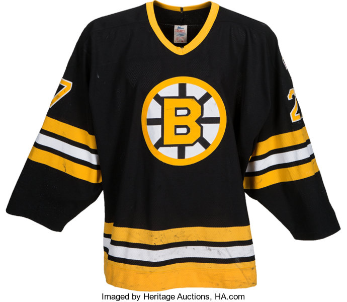 finest selection 0a503 80710 Circa 1990 Dave Christian Game Worn Boston Bruins Jersey ...