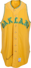 Baseball Collectibles:Uniforms, 1968 Reggie Jackson Game Worn Oakland Athletics Rookie Jersey, MEARS A10....