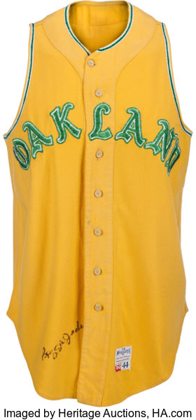 cheap for discount 8b10b 50a64 1968 Reggie Jackson Game Worn Oakland Athletics Rookie ...