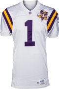 Football Collectibles:Uniforms, 1995 Warren Moon Game Worn Minnesota Vikings Jersey - With 9 Team Repairs!...