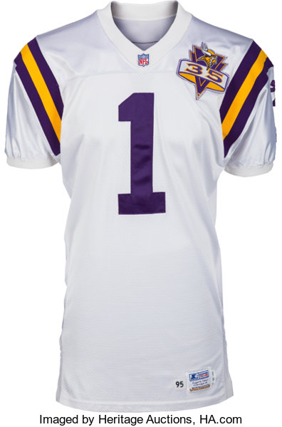 fc4dc2a1fc0 ... Football Collectibles:Uniforms, 1995 Warren Moon Game Worn Minnesota  Vikings Jersey - With 9 ...