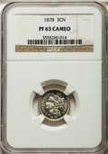 Proof Three Cent Nickels: , 1878 3CN PR63 Cameo NGC. NGC Census: (4/155). PCGS Population (3/187). ...