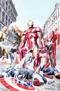 Original Comic Art:Covers, Alex Ross Avengers/Invaders #2 Cover Painting Original Art (Marvel, 2008)....
