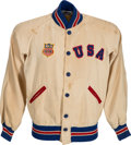 Hockey Collectibles:Others, 1960 Bill Christian Worn Team USA Hockey Jacket. ...