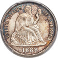 Seated Dimes, 1888-S 10C F-106, R.3, MS67 PCGS....