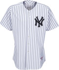 Baseball Collectibles:Uniforms, 2000's Hideki Matsui Game Issued Signed New York Yankees Jerseyfrom The Bobby Murcer Collection. ...